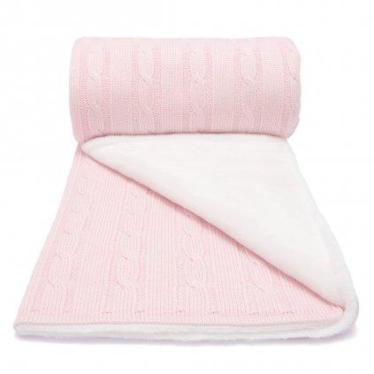 Zimná detská deka ružová