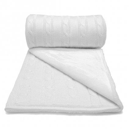 Zimná deka do kočíka biela