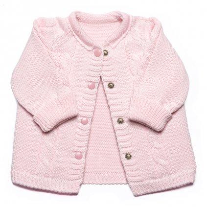 Pletený svetrík Vrkoč - ružový