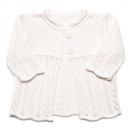Pletený svetrík Sunny - biely