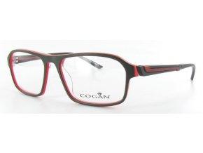 Yves Cogan 0877 (tm.šedá,červená)