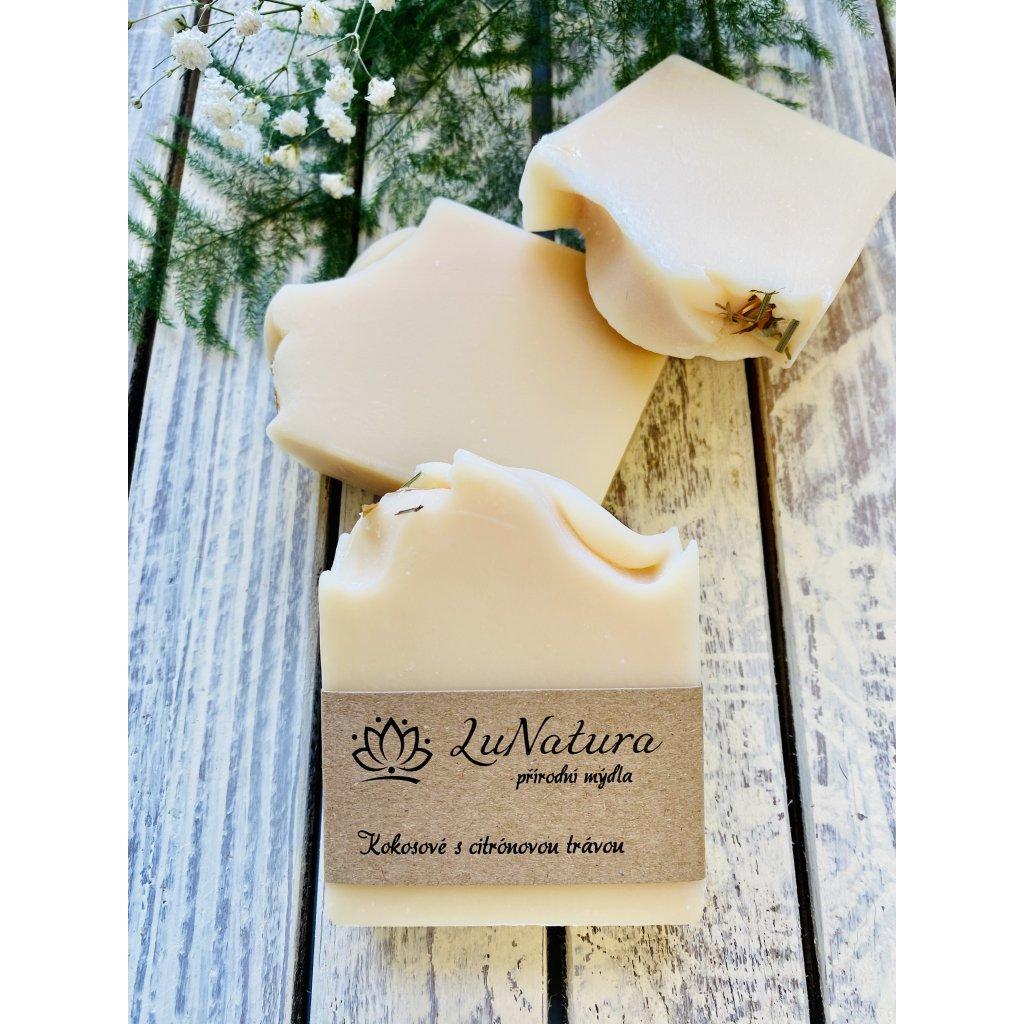 Kokosové přírodní mýdlo s citronóvou trávou