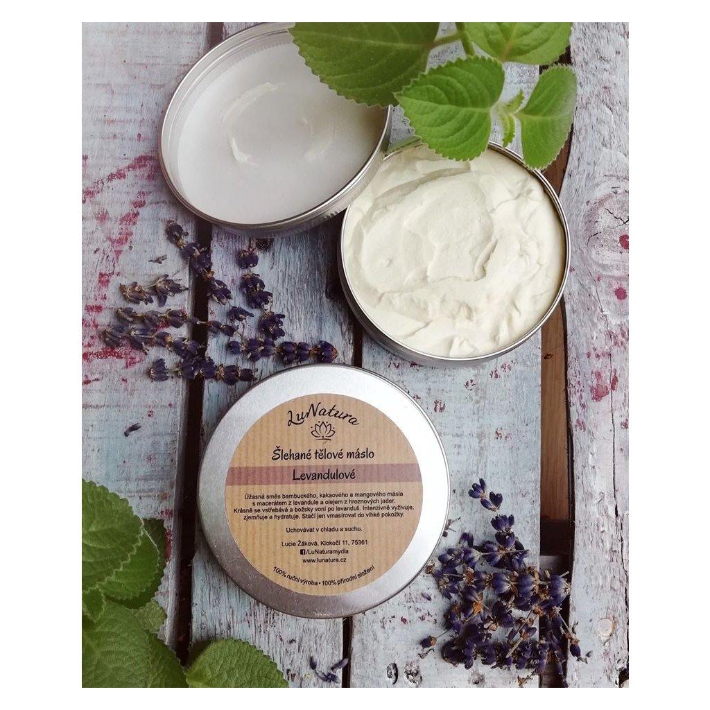 LuNatura šlehané tělové máslo levandulové