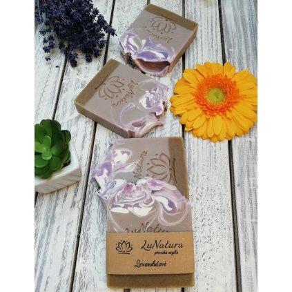 LuNatura přírodní levandulové mýdlo
