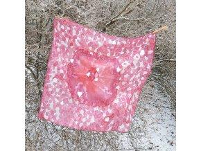 """Malovaný hedvábný šátek """"Esence milenky"""""""