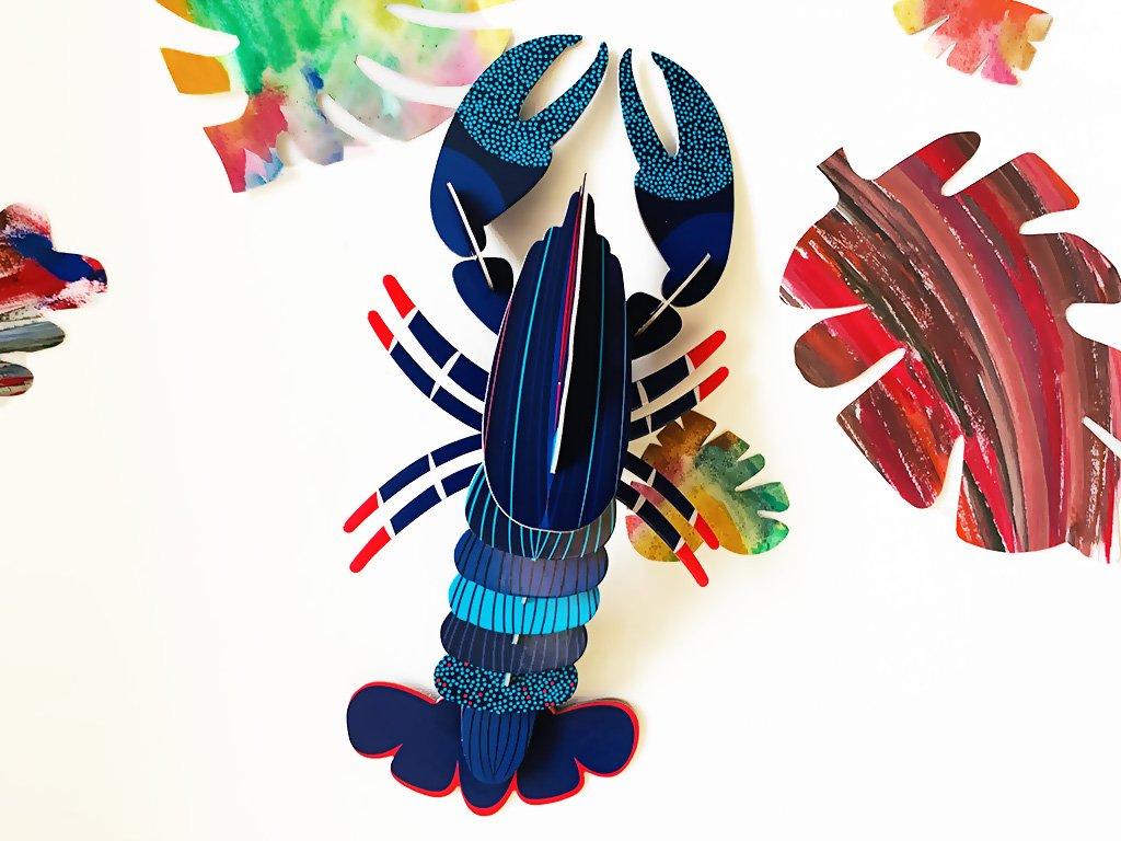 Modrý humr ❤️ Mořští tvorové _ Studio ROOF _ Nejprodávanější dekorace do dětského pokoje typu Montessori pro děti 2 roky, 3 roky, 4 roky, 5 let _ lupavkapse.cz