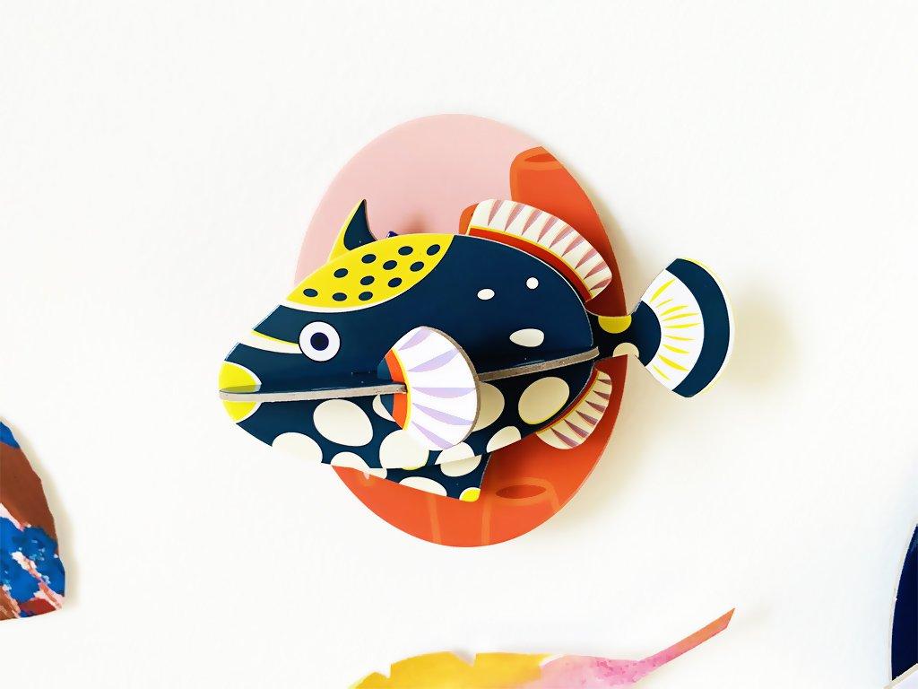 Ostenec běloskvrnný ❤️ Mořští tvorové _ Studio ROOF _ Nejprodávanější dekorace do dětského pokoje typu Montessori pro děti 2 roky, 3 roky, 4 roky, 5 let _ lupavkapse.cz