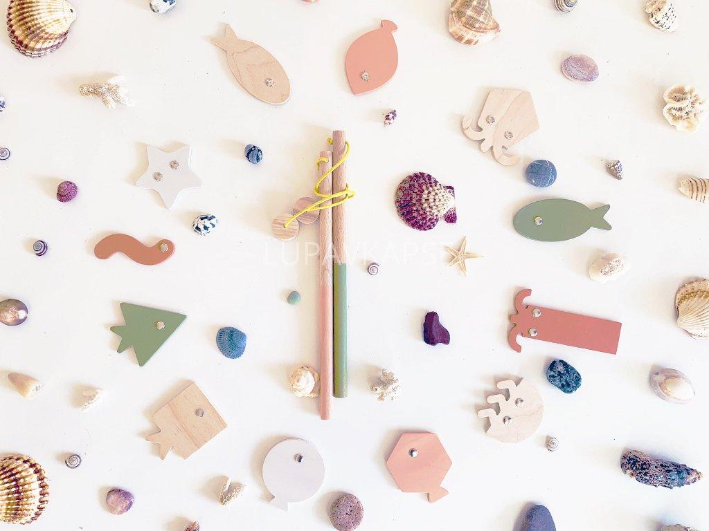 Magnetické chytání rybiček na udici a prut ❤️ barevné _ Babai Toys _ Kreativní dětské hračky do pokoje pro kluky a holčičky od 2 let, od 3 let, od 4 let, od 5 let _ lupavkapse.cz