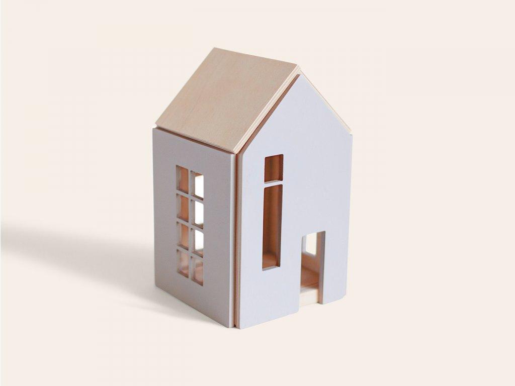 Nejprodávanější domeček pro panenky a víly (vel. M) ŠEDÝ ❤️ Babai Toys _ Nejprodávanější dřevěné vzdělávací hračky typu Montessori pro děti od 2 let, od 3 let, od 4 let _ lupavkapse.cz