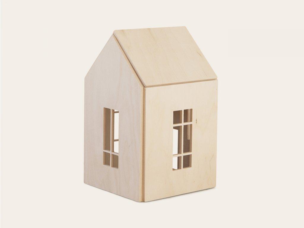 PŘÍRODNÍ dřevěný domeček pro panenky a obry (vel. L) ❤️ Babai Toys _ Nejprodávanější vzdělávací hračky typu Montessori pro rozvoj jemné motoriky dětí pro děti od 3 let, od 4 let, od 5 let _ lupavkapse.cz