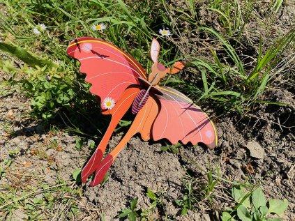 Růžový měsíční motýl ❤️ Studio ROOF _ Nejprodávanější zvířecí dekorace do dětského pokoje typu Montessori pro dítě 1 rok, 2 roky, 3 roky, 4 roky _ lupavkapse.cz