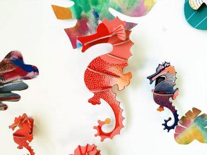 Mořští koníci ❤️ Mořští tvorové _ Studio ROOF _ Nejprodávanější dekorace do dětského pokoje typu Montessori na zeď pro děti 2 roky, 3 roky, 4 roky, 5 let _ lupavkapse.cz
