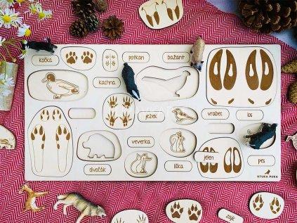 Stopy zvířat ❤️ Jste na správné cestě? _ Stuka Puka _ Nejprodávanější Montessori hračky dřevěné pro děti od 2 let, od 3 let, od 4 let, hračky pro Montessori školky _ lupavkapse.cz