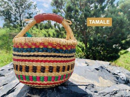 TAMALE ❤️ Nákupní koš bolga pro děti _ košík na hračky do dětského pokoje _ bolga koš kulatý pro děti do 2 let, od 3 let, od 4 let Ghana _ lupavkapse.cz
