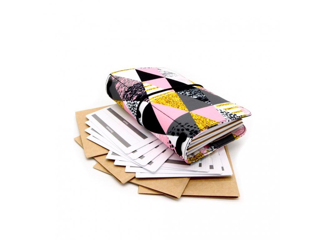 cestovatelský deník bevel pink m 1