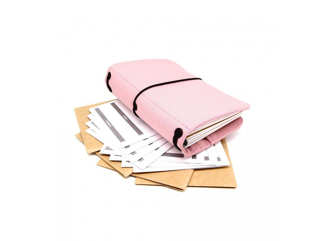 cestovatelský deník pink m 1
