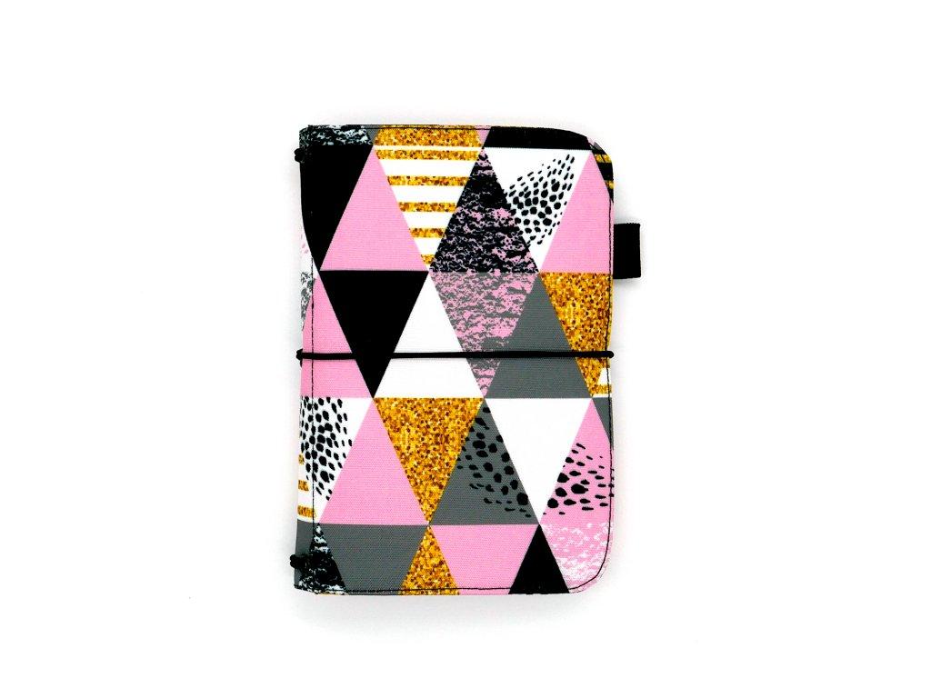 zápisník deník blok diář bevel pink 01