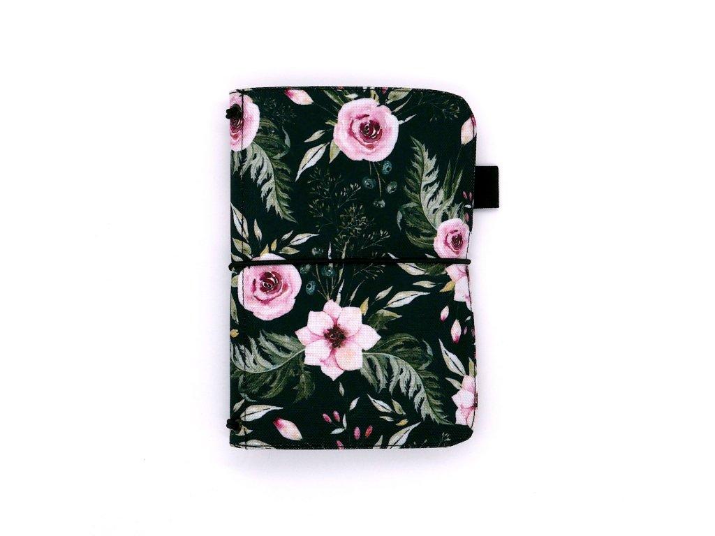 zápisník deník blok diář flower 01