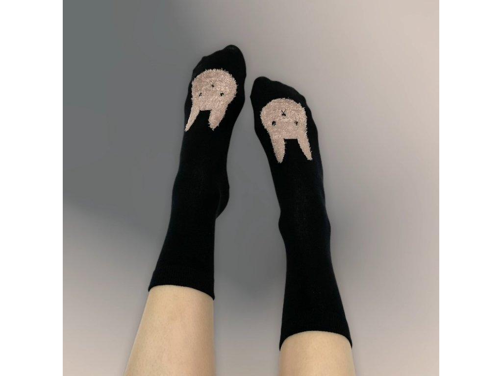 Veselé ponožky králík 2