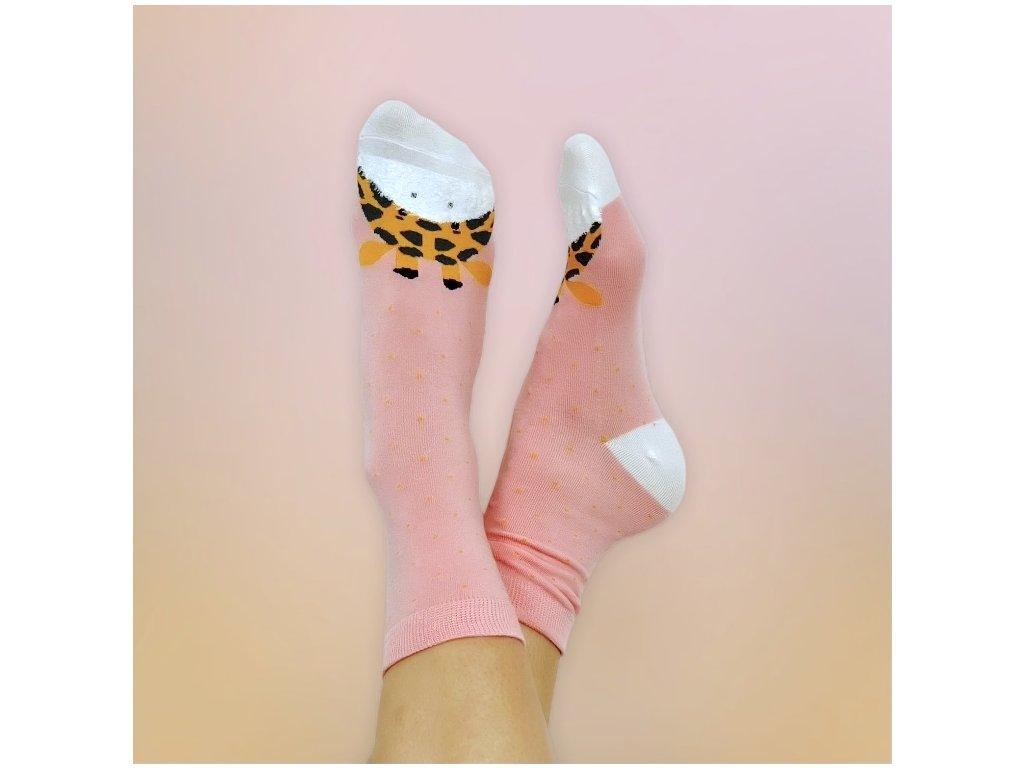 Veselé ponožky žirafa 2
