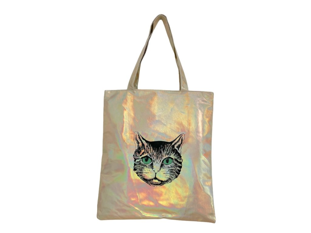 taška kočka zlatá