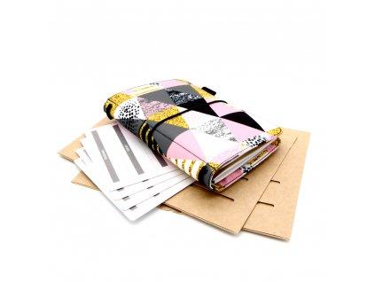 Cestovatelský deník bevel pink s 1