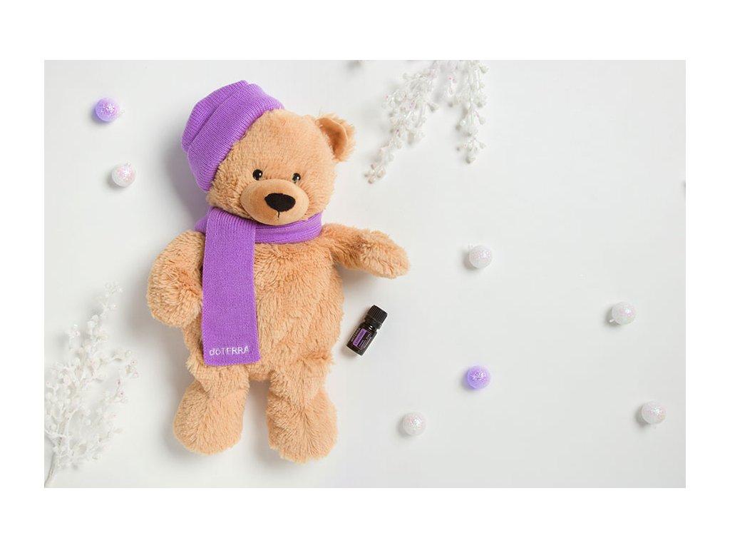Hrejivý plyšový medvedík Warmies® a olej Levanduľa