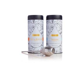Doterra Kolekcia bylinných čajov (Herbal Tea Collection) 2x80g + sitko na lúhovanie čaju