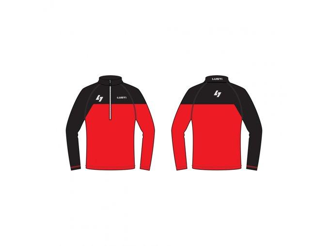 zateplené lyžařské triko LUSTI FLAP red vel. L