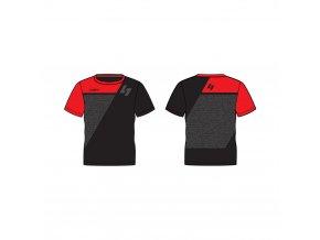pánské triko LUSTI JOHN MICRO red/black vel. L