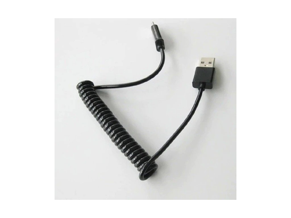 black spring usb cable retractable micro usb t variants 0