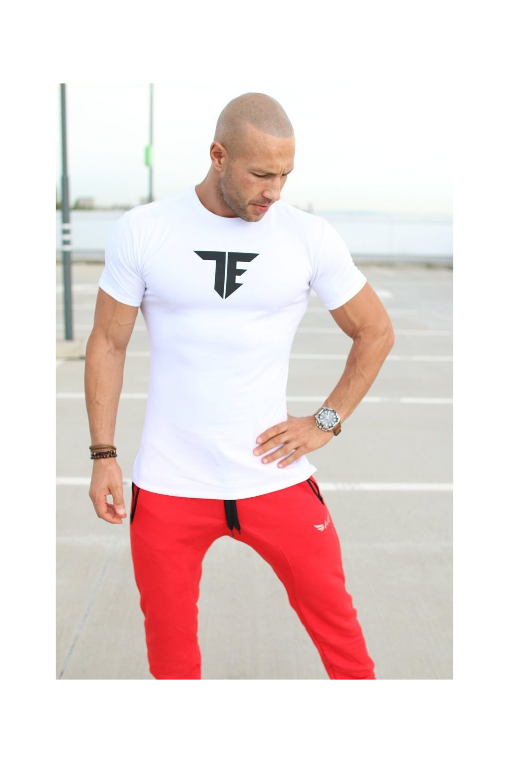 Exalted T1 pánske tričko biele