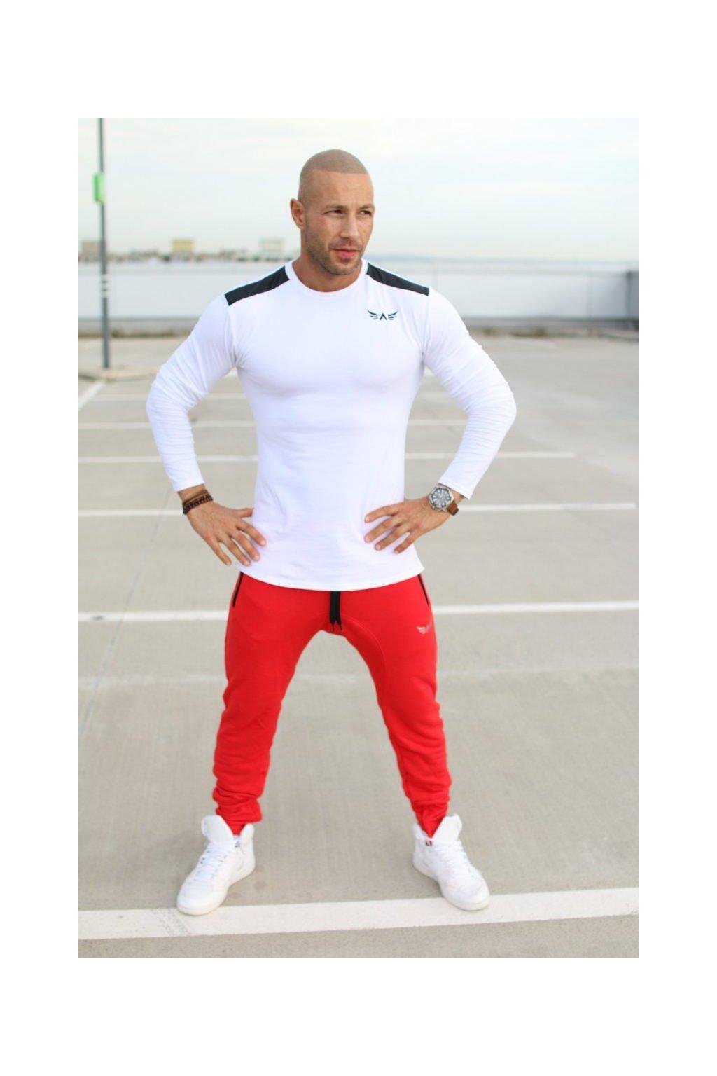 Exalted L3 pánske tričko s dlhým rukávom biele