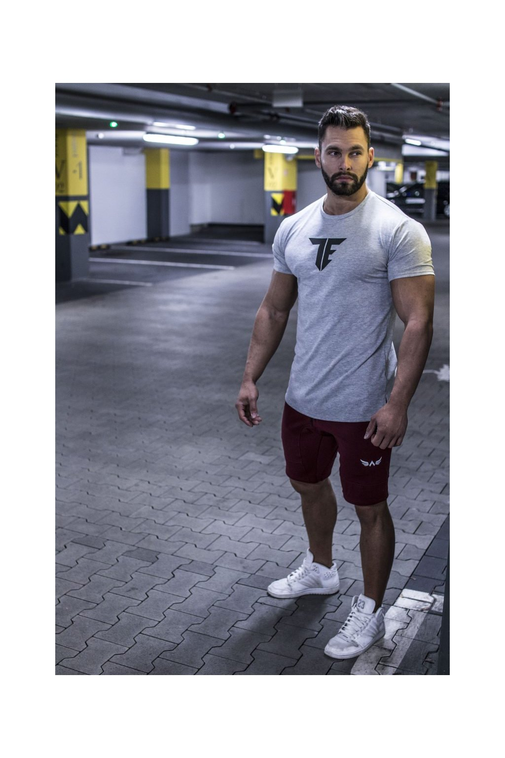 Exalted T1 pánske tričko sivé