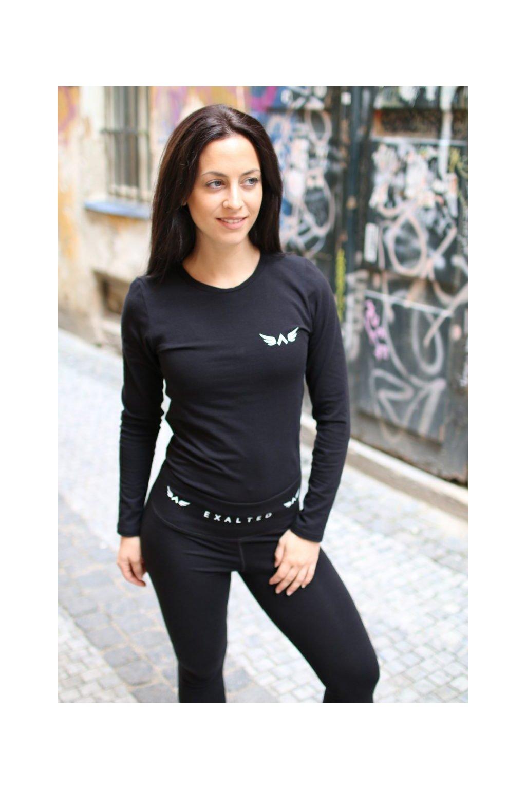 Exalted X1 dámske tričko s dlhým rukávom čierne