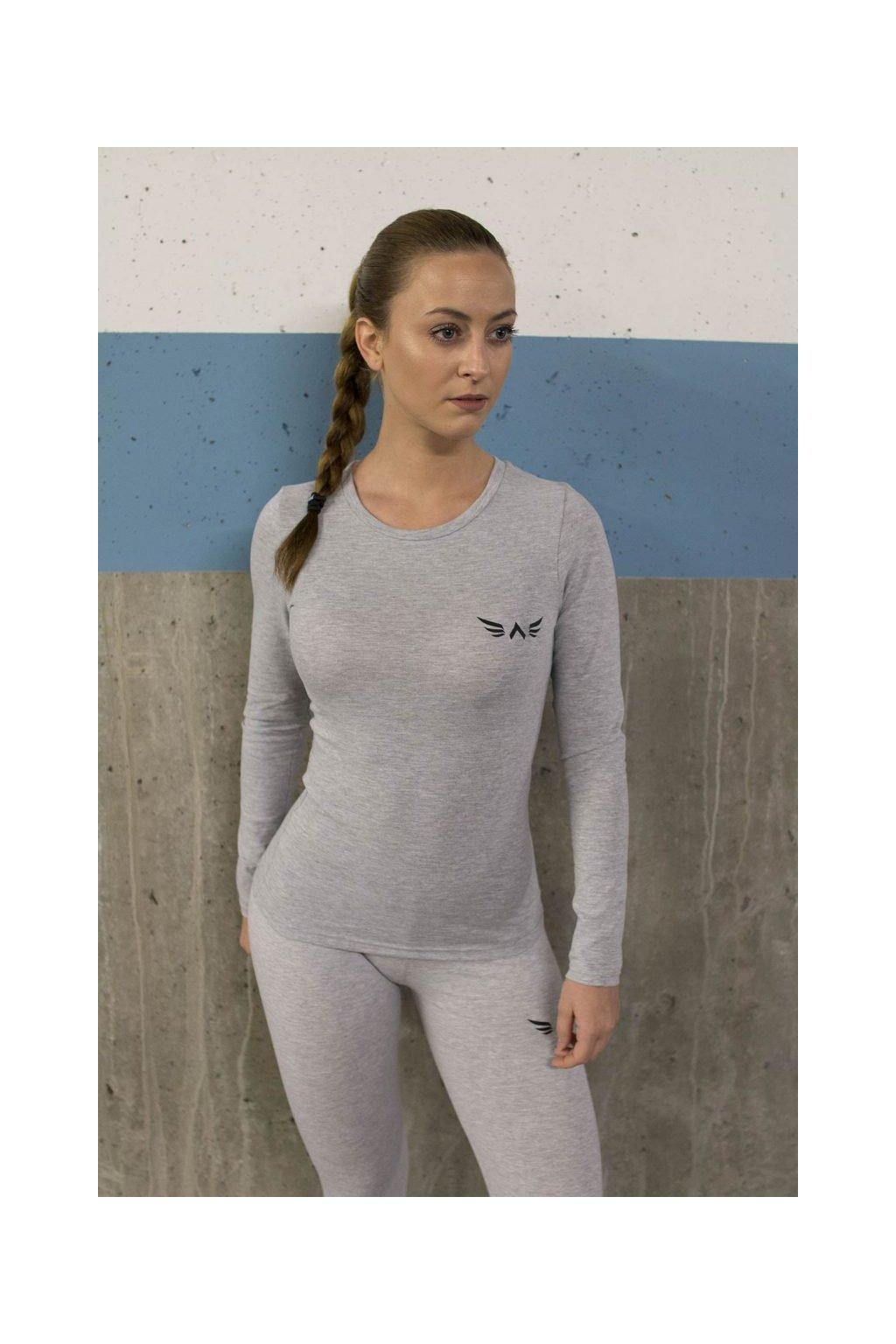 Exalted X1 dámske tričko s dlhým rukávom sivé