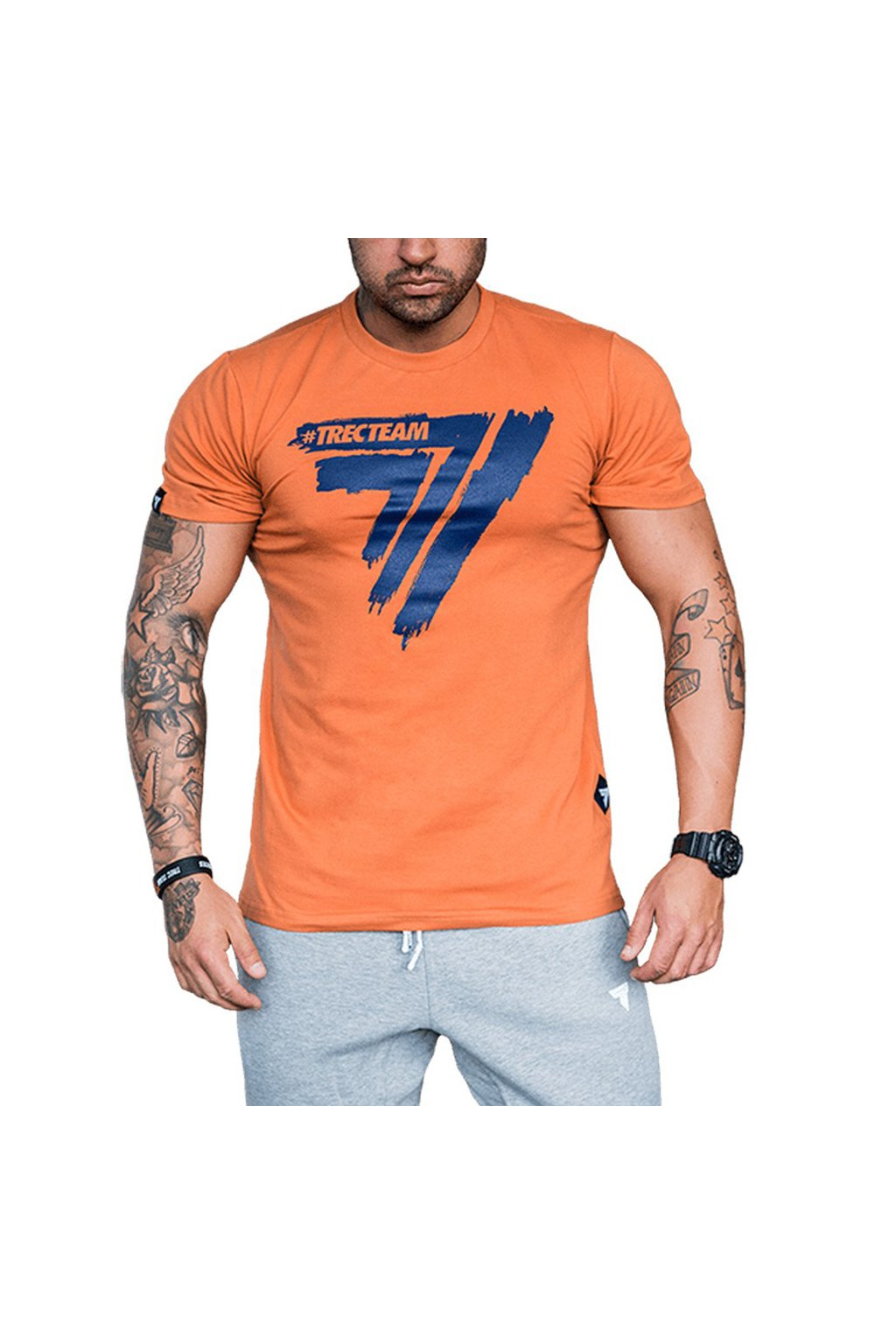 TSHIRT PLAY HARD 008 ORANGE 01