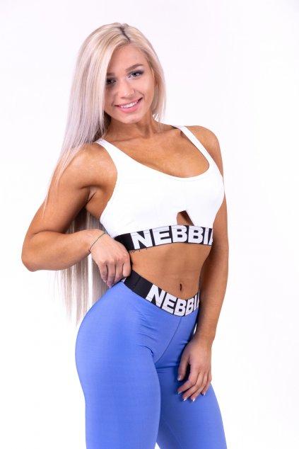 NEBBIA Athletic Cut Out športová podprsenka 695 biela