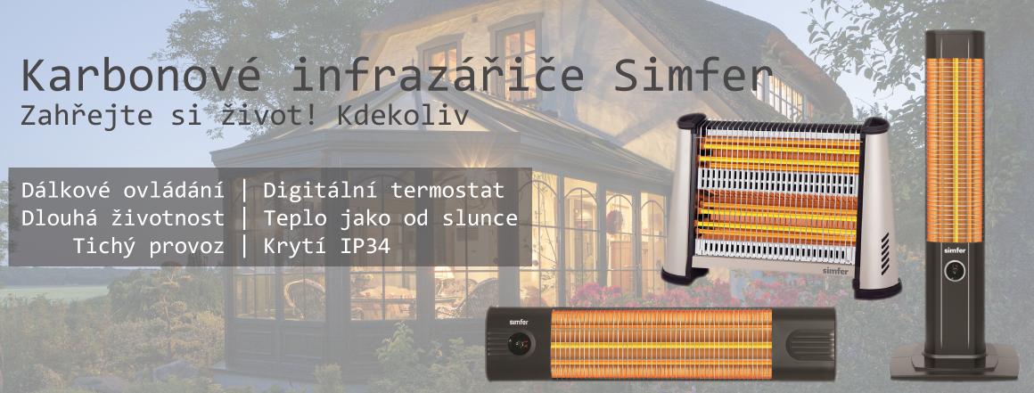 Karbonové infrazářiče Simfer