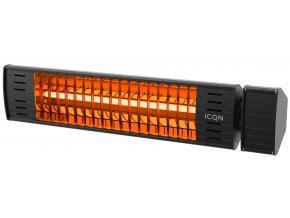 topzarice cz tansun sorrento single commercial infrared quartz heater in black