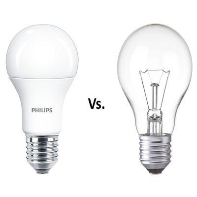 Srovnání LED  s klasickými a spořivými žárovkami