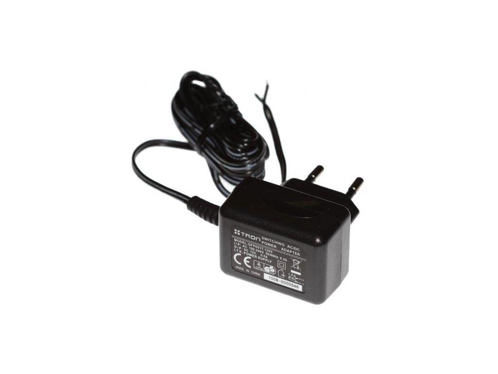 Napěťový zdroj pro LED - 230V / 12V, 6W, adaptér, 50Hz/12V/0,5A/ AC/DC