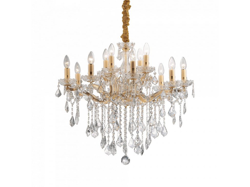 Závěsné svítidlo Ideal Lux Florian SP12 zlaté 035611