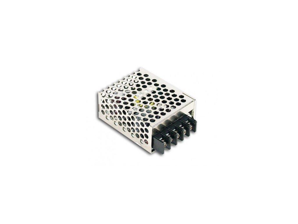 Napěťový zdroj RS-15-12, vstupní napětí 230VAC, výstupní napětí 12VDC, výkon 15W