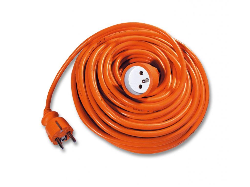 Prodlužovák spojka, 15m, oranžový 3x1,0mm Ecolite FX1-15