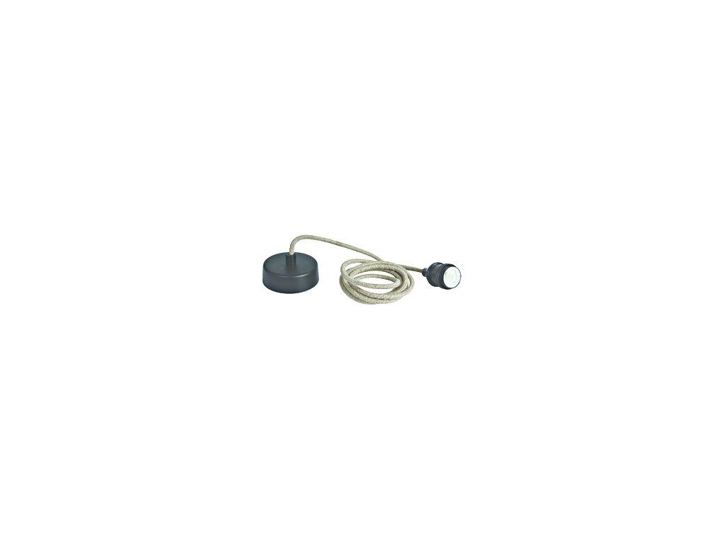 Svítidlo Rope Line pendant lamp, E27, l=2m, black