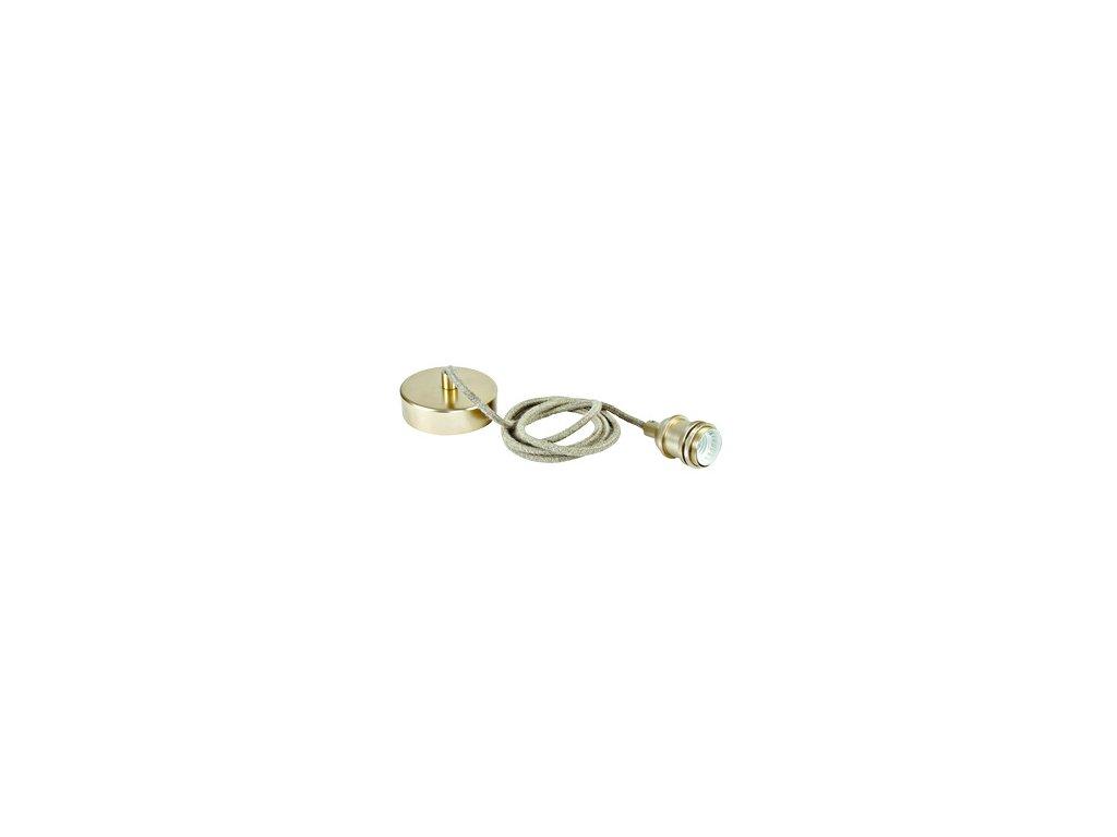 Svítidlo Rope Line pendant lamp, E27, l=2m, brushed brass