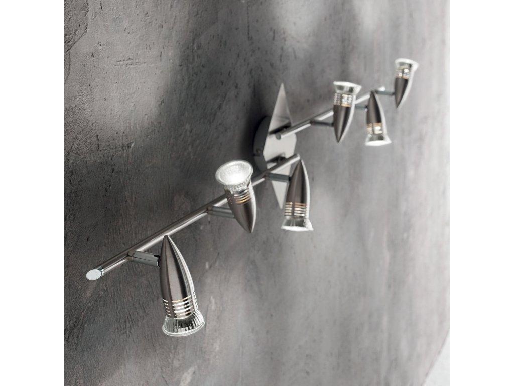 Stropní/nástěnné svítidlo Ideal Lux Alfa PB6 nikl 006338