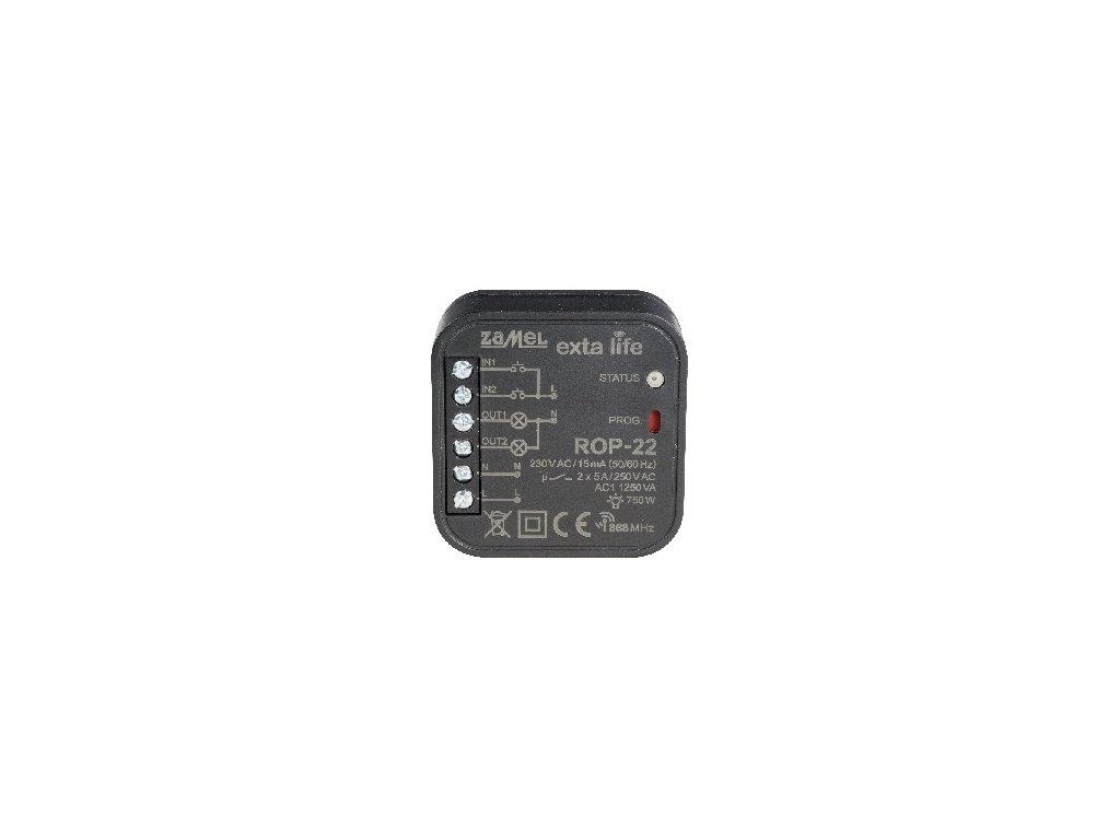 Rádiový přijímač do krabice; 2-kanálový; dvousměrný Zamel ROP-22