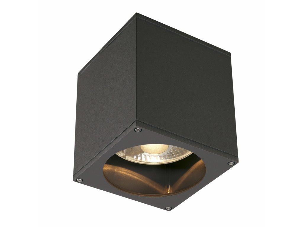 Stropní svítidlo BIG THEO CEILING OUT, hranaté, antracit, ES111, max. 75W